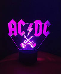 3d-светильник AC/DC, 3д-ночник, несколько подсветок (на пульте)
