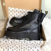 Женские ботинки Dr. Martens Jadon Boot Black Доктор Мартинс Жадон черные БЕЗ МЕХА, фото 2