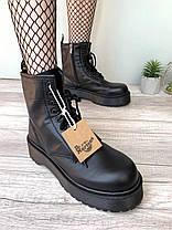 Женские ботинки Dr. Martens Jadon Boot Black Доктор Мартинс Жадон черные БЕЗ МЕХА, фото 3
