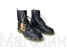 Женские зимние ботинки Dr. Martens 1460 Black Winter Fur  Доктор Мартинс 1460 С МЕХОМ черные, фото 3
