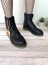 Женские зимние ботинки Dr. Martens 1460 Black Winter Fur  Доктор Мартинс 1460 С МЕХОМ черные, фото 2