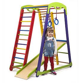 Детский спортивный деревянный уголок «Кроха 1 мини»ТМ Sportbaby, размеры 1.5х0.85х1.32м