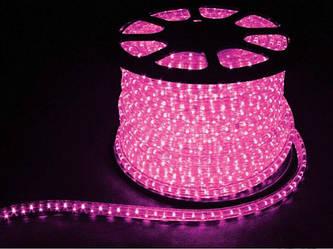 Гірлянда Дюралайт LED рожева 20м з контролером
