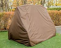 Зимний коричневый чехол на садовую качель 2050