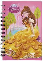Блокнот с пластиковой обложкой на спирали Princess Kite, 80 листов, А5, светло-розовый