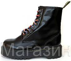 Зимние женские ботинки Dr. Martens Jadon Boot Black на меху Доктор Мартинс Жадон черные С МЕХОМ, фото 2