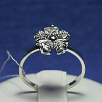 Серебряное кольцо с цирконием кубическим 11088, фото 1