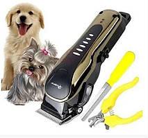 Беспроводная машинка для стрижки и грувинга шерсти собак и кошек Progemei Gm-6063