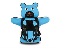 Детское Бескаркасное Автокресло в форме Медвежонка (Цвет Голубой), фото 1