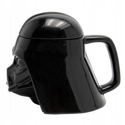 Чашка Бокал Кружка Пластиковая Star Wars 3D Plastic Дарт Вейдер (Черная)