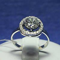 Серебряное кольцо с большим фианитом 11090, фото 1