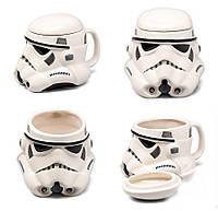 Чашка Кружка с крышкой Star Wars 3D  Штурмовик (Белая) Керамика, фото 1