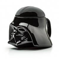 Кружка Чашка с крышкой Star Wars Дарт Вейдер Star Wars 3D  (Черная) Керамика, фото 1