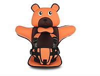 Детское Бескаркасное Автокресло в форме Медвежонка (Цвет Оранжевый), фото 1