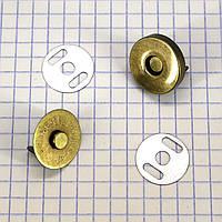Кнопка магнит 18 мм на усиках антик для сумок t5001 a4270 (50 шт.)