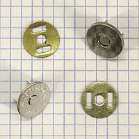Кнопка магнит 18 мм на усиках никель мощный для сумок t5003 (20 шт.)