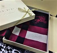 Стильный брендовый мужской кашемировый двусторонний шарф Барбери премиум класс. Фирменная упаковка.