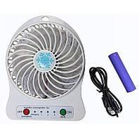Вентилятор настольный, аккумуляторный Usb Mini Fan (аккумулятор, usb кабель)
