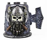 Кружка Чашка Бокал Викинг Воин Сатана 3D Молот Тора Нержавеющая Сталь, фото 1