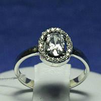 Серебряное кольцо с цирконием овальным 11094, фото 1