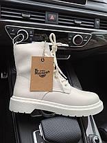 Женские зимние ботинки Dr. Martens 1460 White Доктор Мартинс без меха белые Мартинсы, фото 3