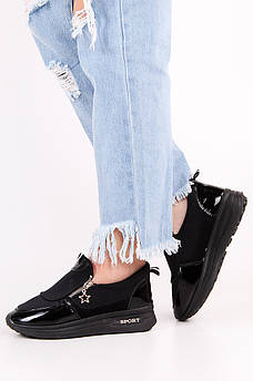 Туфли женские черные 124270M