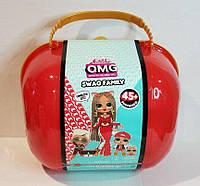 Набор чемодан семья Лол Сваг Свэг Леди Диджей 45 сюрпризов LOL Surprise OMG MC Swag Family оригинал