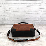 Портфель fat коньячный из натуральной кожи crazy horse, фото 9