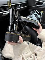 Зимние женские ботинки Dr. Martens Jadon Boot Patent Black без меха Доктор Мартинс Жадон черные без меха, фото 3