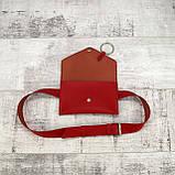Сумка konvert kolco красный из натуральной кожи kapri, фото 7