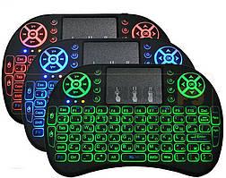 Бездротова клавіатура Rii Mini i8 Backlit з підсвічуванням, російська клавіатура