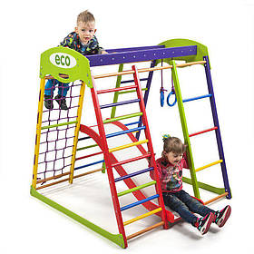 Детский спортивный деревянный уголок «ЮнгаPlus 1»ТМ Sportbaby, размеры 1.5х1.24х1.32м