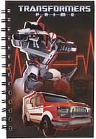 Блокнот с пластиковой обложкой на спирали Transformers Kite, 80 листов, А5