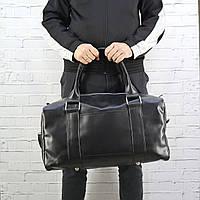 Дорожная сумка Mihey cube long черный из эко кожи 1471901