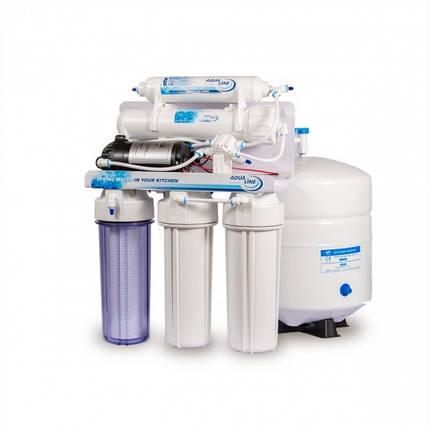 Фильтр воды осмос Aqualine RO-5 P с помпой, фото 2