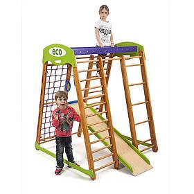 Дитячий спортивний дерев'яний куточок «Карапуз мини»  ТМ Sportbaby, розміри 1.5х1.24х1.32м