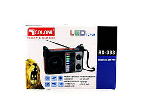 Радиоприемник Golon RX-333 BT c Фонариком и Bluetooth MP3 USB FM SD