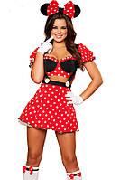 Костюм платье красное в горошек Мики