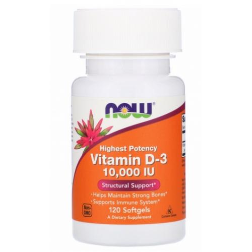 NOW Foods Vitamin D3 10000 120 softgels