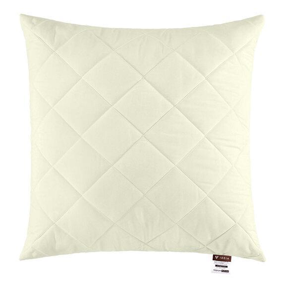 Подушка Ideia Comfort Standart+ 70*70 см микрофибра/антиаллергенное волокно молочная арт.8-11890
