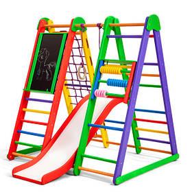 Детский спортивный деревянный уголок «Эверест-2» ТМ Sportbaby, размеры 1.3х1х1.24м
