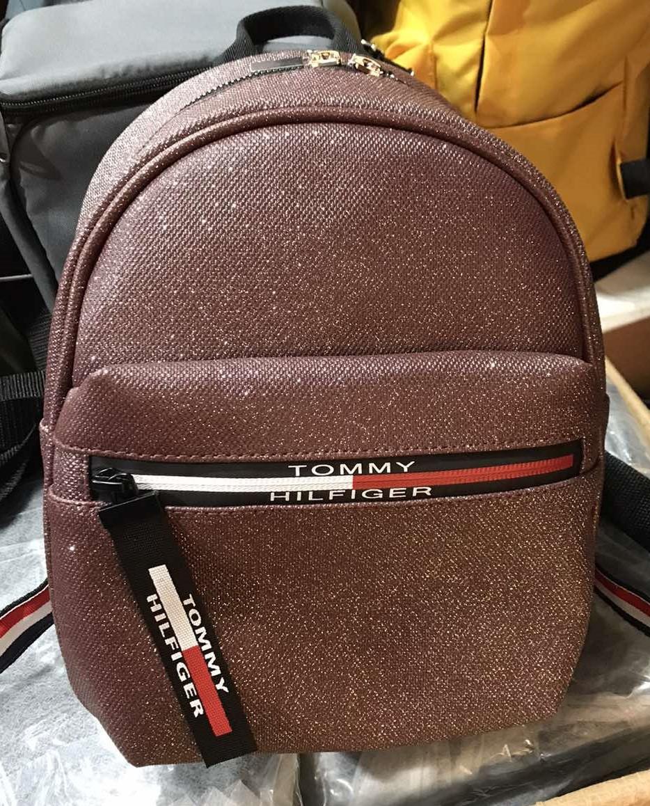 Женский рюкзак кожзам молодёжный городской Томмy с блеском.