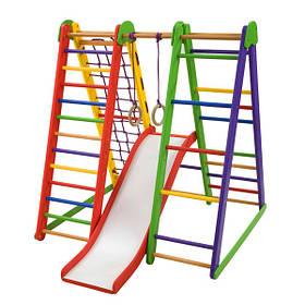 Детский спортивный деревянный уголок «Эверест-4» ТМ Sportbaby, размеры 1.3х1х1.3м