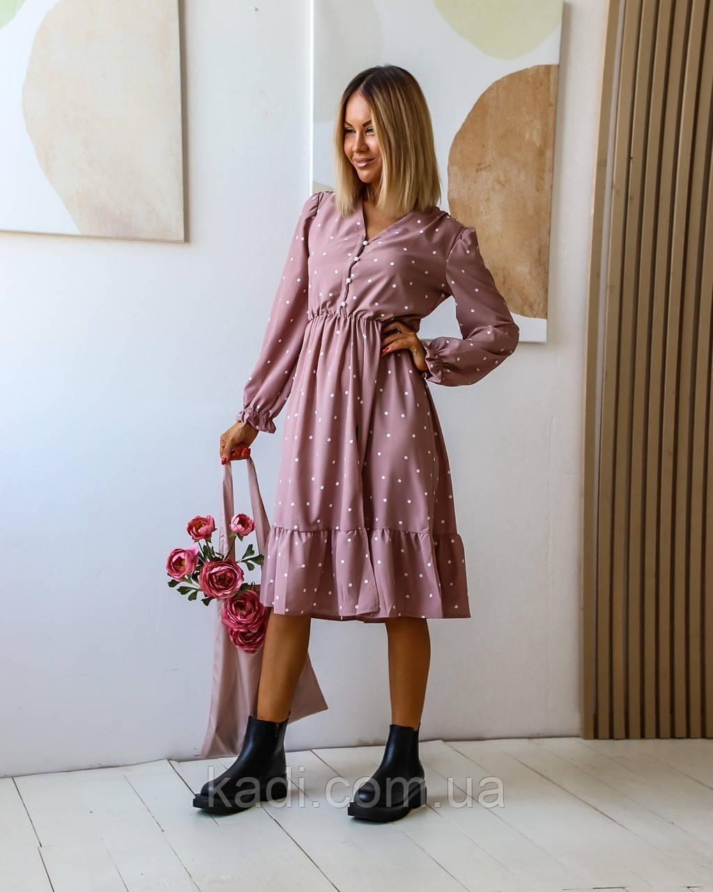 Платье в горошек / арт.15380