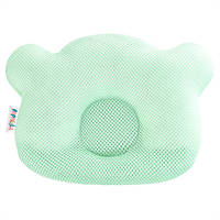 Подушка ортопедическая для новорожденных Ideia Baby Мишка 20*27 см арт.8000032377.м'ята