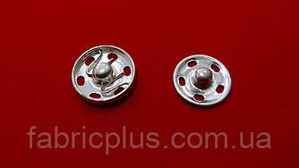 Кнопка пришивная №3 металлическая 14 мм никель