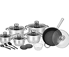 Набор посуды Rainberg RB-602 18 предметов с 9-слойным дном, фото 2