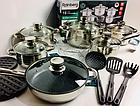 Набор посуды Rainberg RB-602 18 предметов с 9-слойным дном, фото 5