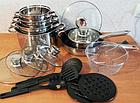 Набор посуды Rainberg RB-602 18 предметов с 9-слойным дном, фото 4