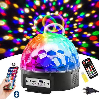 Диско шар c динамиками и mp3-проигрователем Magic Ball Bluetooth Music PRO Original + флешка и пульт, светодиодный (id49)